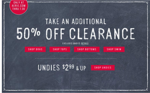 Click on the photo to see what's on clearance right now.