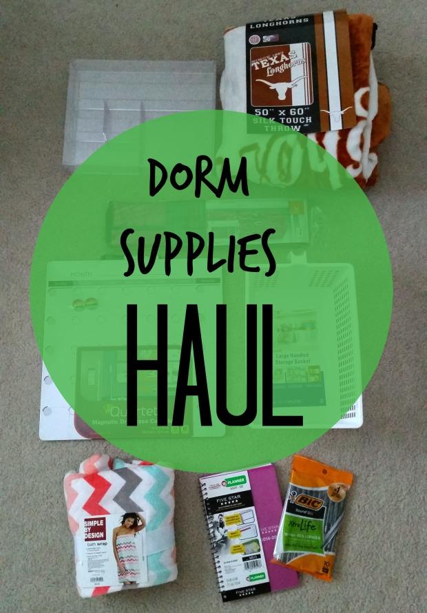 dorm supplies haul